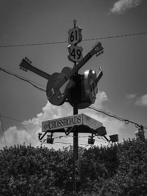 Clapton Photograph - Clarksdale - The Crossroads 003 Bw by Lance Vaughn