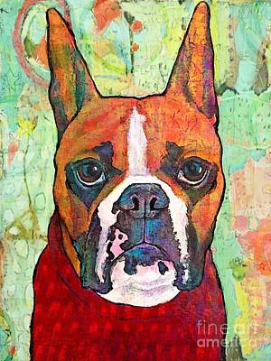 Boxer Dog Mixed Media - Class Photo by Stephanie Gerace