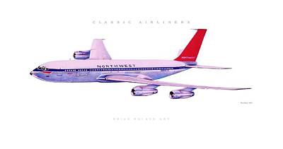Airliners Drawing - Classic Airliner 2 by Brian Roland