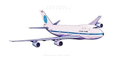 Airliners Drawing - Classic Airliner 4 by Brian Roland