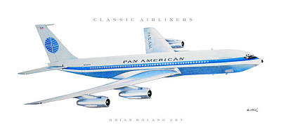 Airliners Drawing - Classic Airliners 1 by Brian Roland