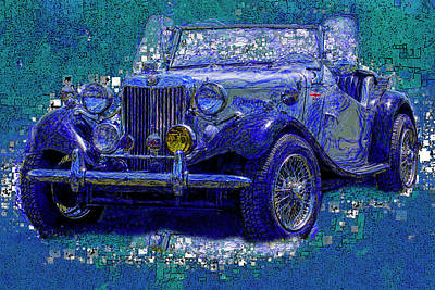 Horseless Carriages Painting - M G - Classic British Sports Car by Jack Zulli