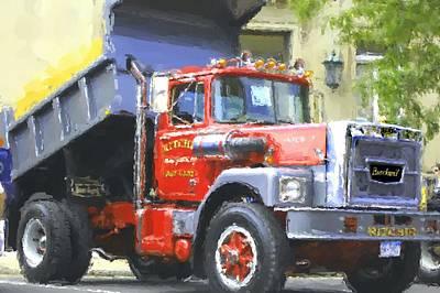 Truck Digital Art - Classic Brockway Dump Truck by David Lane