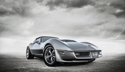 Digital Art - Classic C3 Corvette by Douglas Pittman
