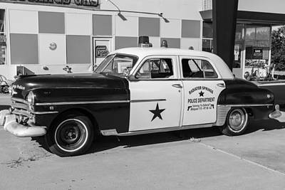 Classic Cop Car Route 66 Print by John McGraw