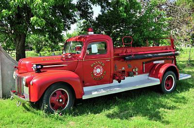 Classic Fire Truck Print by Betty LaRue