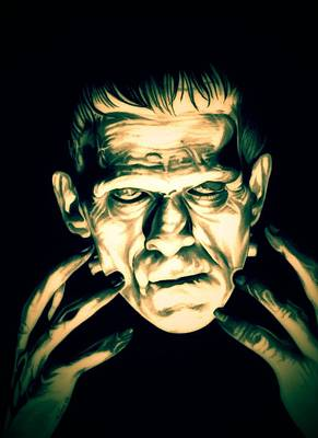 Electricity Drawing - Classic Frankenstein by Fred Larucci