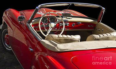 Classic Mercedes Benz 190 Sl 1960 Print by Heiko Koehrer-Wagner