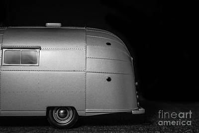 Classic Old Airstream Vintage Travel Camping Trailer Print by Edward Fielding
