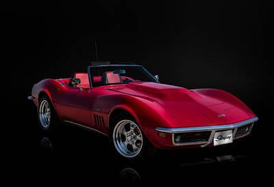 Motorsports Digital Art - Classic Red Corvette by Douglas Pittman