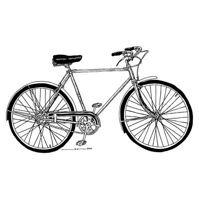 Wheel Drawing - Classic Road Bicycle  by Karl Addison