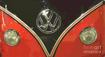 Classic Volkswagen Print by Cheryl Young