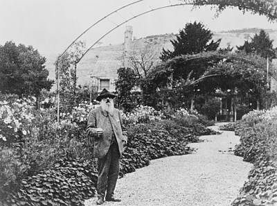 The Pathway Photograph - Claude Monet In His Garden by French School