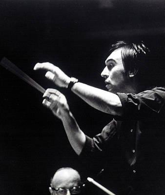Conductor Photograph - Claudio Abbado, Conducting The Boston by Everett