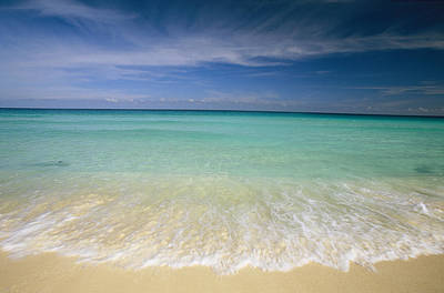 Photograph - Clear Blue Water And Wispy Clouds by Michael Melford