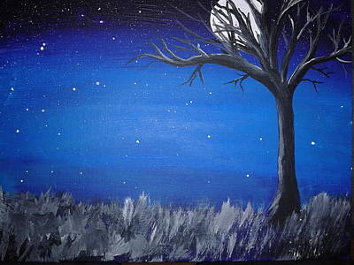 Stary Sky Painting - Clear Night  by New Chapter Art