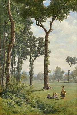 Robert Zuend Painting - Clearance In An Oak Forest by Robert Zuend