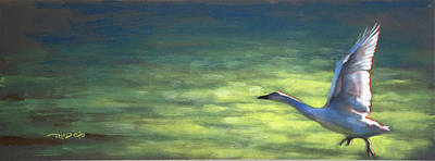 Birds Painting - Cleared For Takeoff by Christopher Reid