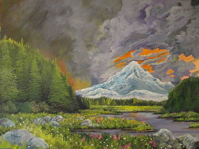 Thunder Painting - Clearing Out by Dave Farrow