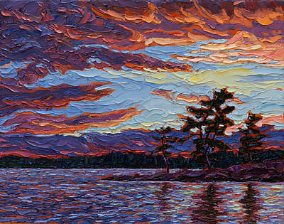 Turbulent Skies Painting - Clearing Skies by Rob MacArthur