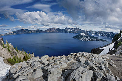 Clearing Storm At Crater Lake Print by Greg Nyquist