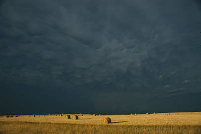 Natural Forces Photograph - Clearing Storm In Western North Dakota by Michael S. Lewis