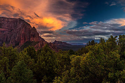 Kolob Photograph - Clearing Storm Over Zion National Park by TL  Mair