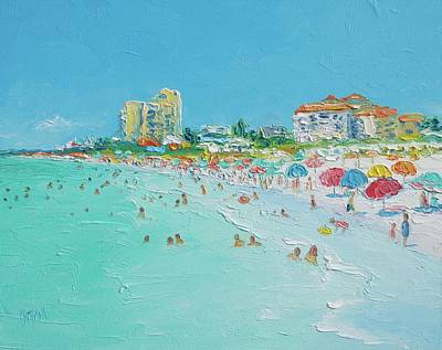 Water Theme Painting - Clearwater Beach Florida by Jan Matson