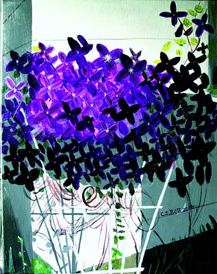 Clematis Painting - Clematis In Bloom by Candy Bott