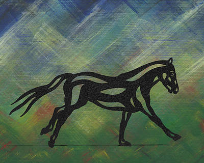 Animals Mixed Media - Clementine - Abstract Horse by Manuel Sueess