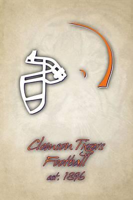 Clemson Tigers Helmet 2 Print by Joe Hamilton