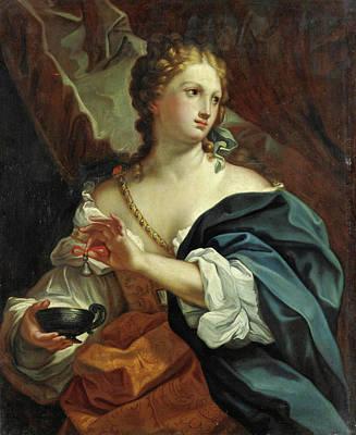 Carlo Maratta Painting - Cleopatra by Workshop of Carlo Maratta