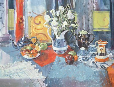 Teapot Painting - Cleopatra's Fruit by Peter Graham