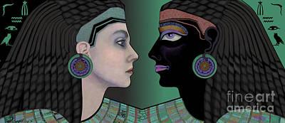 Portrait Digital Art - Cleopatra's Mirror by Carol Jacobs