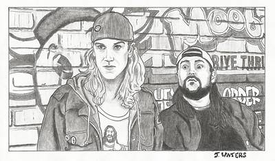 Buddy Drawing - Clerks 2 Jay And Silent Bob by Jeremy Waters