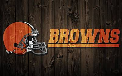 Cleveland Browns Barn Door Print by Dan Sproul