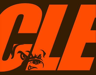 Cleveland Browns City Name Print by Joe Hamilton