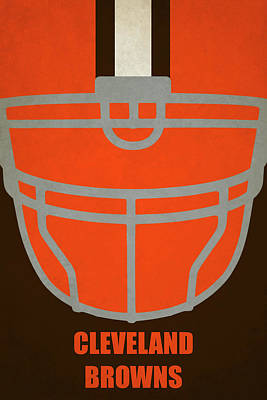 Cleveland Browns Helmet Art Print by Joe Hamilton
