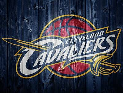 Lebron James Mixed Media - Cleveland Cavaliers Barn Door by Dan Sproul