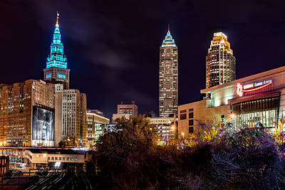 Cleveland Night Hype Print by Brad Hartig - BTH Photography