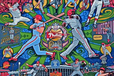 Baseball. Philadelphia Phillies Photograph - Philadelphia Team Spirit by Frozen in Time Fine Art Photography