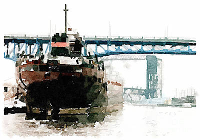 Cleveland Ship Print by Janet Dodrill