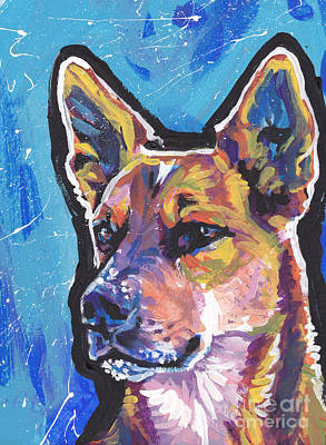 Cattle Dog Painting - Click Your Red Heels by Lea S