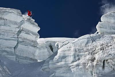 Cliff Jumping Print by Tristan Shu