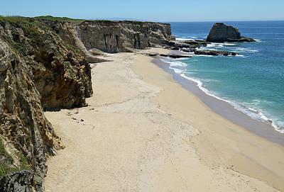 Panther Photograph - Cliffs At Panther Beach - Santa Cruz - California by Brendan Reals