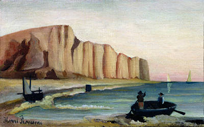 Spray Painting - Cliffs by Henri Rousseau