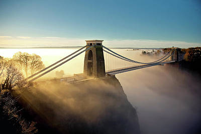 Built Structure Photograph - Clifton Suspension Bridge by Paul C Stokes