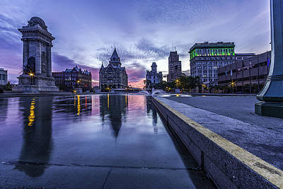 Stone Buildings Photograph - Clinton Square Sunrise by Everet Regal