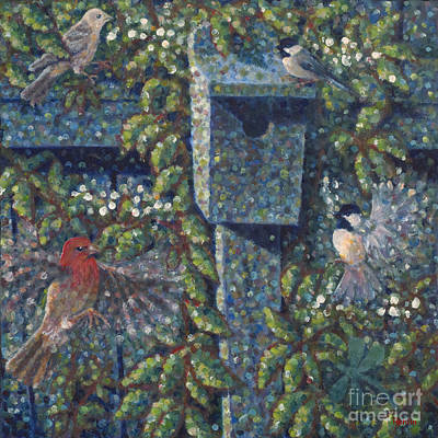 Metal Dragonfly Painting - Clintonville Birdhouse by Jim Rehlin