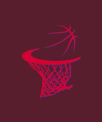 Clippers Basketball Hoop Print by Joe Hamilton